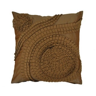 Sherry Kline 21-inch Pleated Swirl Tafetta Pillow