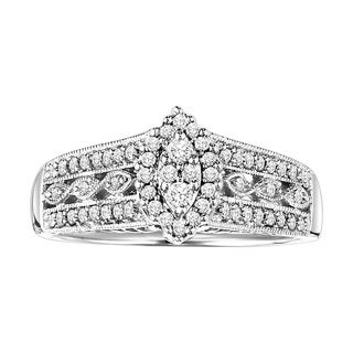 Cambridge Sterling Silver 1/3ct TDW Diamond Engagement Ring (I-J, I2-I3)