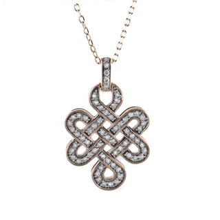 Beverly Hills Charm 14k Gold 1/2ct TDW Diamond Love Knot Necklace (H-I, I2-I3)