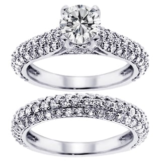 14k/ 18k Gold or Platinum 3 4/5ct TDW Diamond Bridal Ring Set (F-G, SI1-SI2)