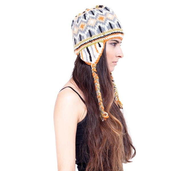 Classic Winter Hand-knit Snowboarding Hat (Nepal)