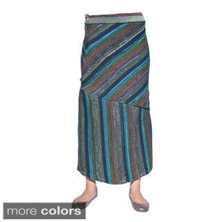 Hand-knit Women's Cotton Long Gypsy Skirt (Nepal)