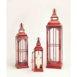 Phat Tommy Vintage Old Red Lantern Set