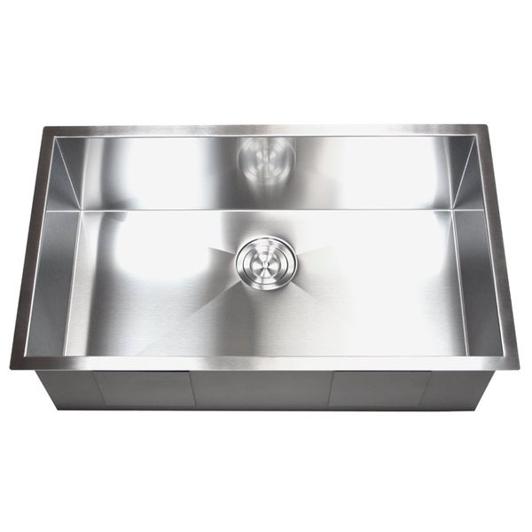 Stainless Steel Sink 16 Gauge : ... -inch Stainless Steel Single Bowl Undermount Zero Radius Kitchen Sink
