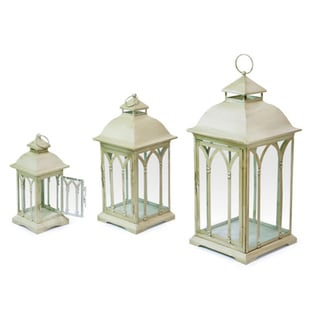 Phat Tommy Vintage Ivory Lantern (Set of 3)