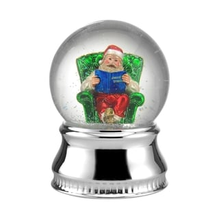 Towle Music Reading Santa Water Globe
