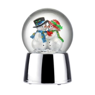 Towle Musical Snowman Couple Water Globe