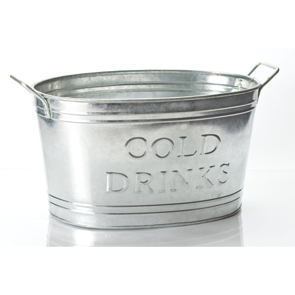 Galvinized Cold Drinks Oval Tub