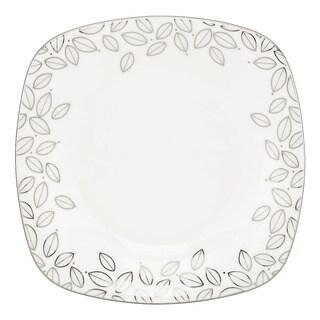 Lenox Platinum Leaf Square Accent Plate