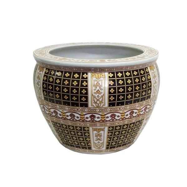 Lisbon Gold Porcelain Fishpot