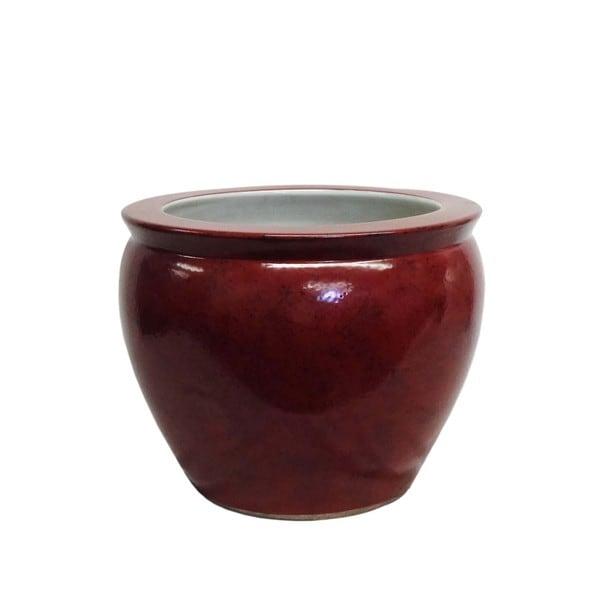 Specked Crimson Porcelain Fishbowl