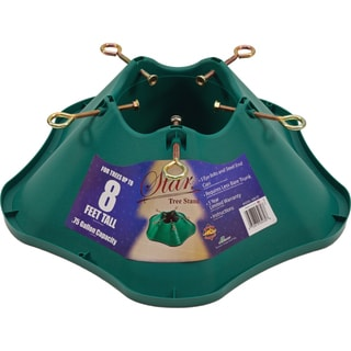 Green Plastic Tree Stand for Trees Up to 8-feet Tall