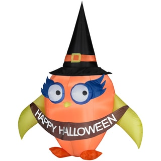 Halloween Airblown Inflatable Owl with Banner