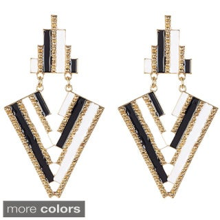 KC Signatures Goldplated Resin Aztec Pattern Earrings