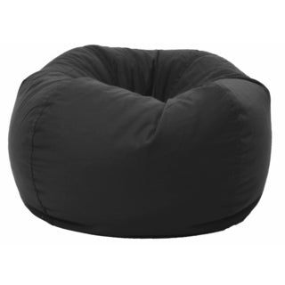 BeanSack Black Twill Bean Bag Lounge Chair