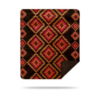 Chocolate Red-diamond Denali Throw Blanket
