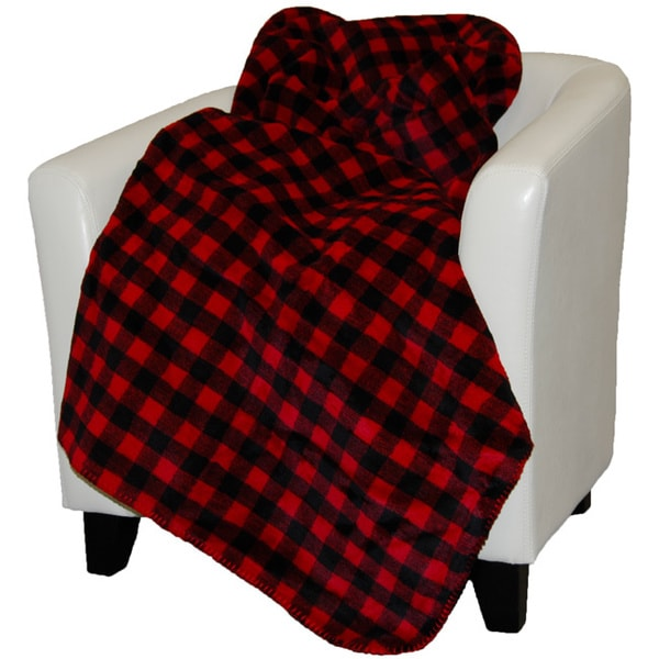 Denali Red and Black Buffalo Check Throw Blanket