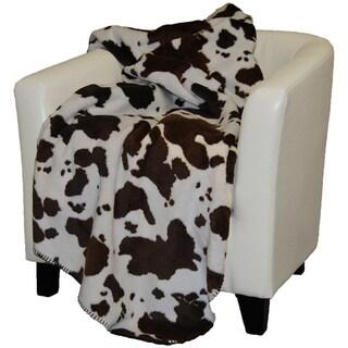 Denali Brown Cow Throw Blanket