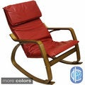 Stockholm Bentwood Faux Leather Rocking Chair