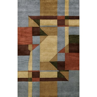 Bengal Blue Wool Area Rug (8' x 11')