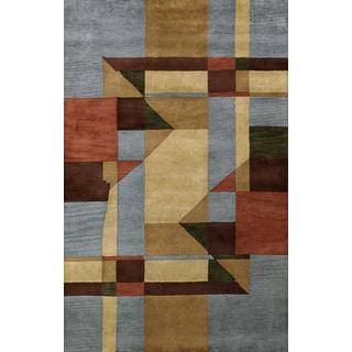 Bengal Blue Wool Area Rug (8' x 11')