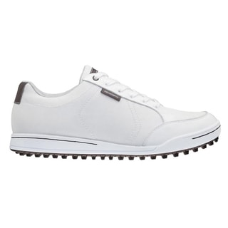 Ashworth Men's Cardiff Canvas Mesh White/ Iron Golf Shoes