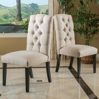 Christopher Knight Home Bherlin Tufted Fabric Dining Chair (Set of 2)