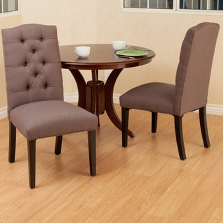 Berlin Mocha Fabric Dining Chair (Set of 2)