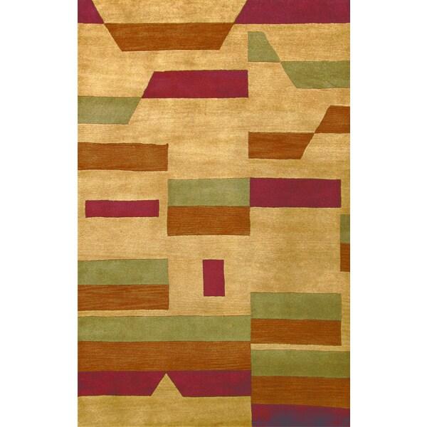 Bengal Beige Wool Area Rug (2'3 x 8')