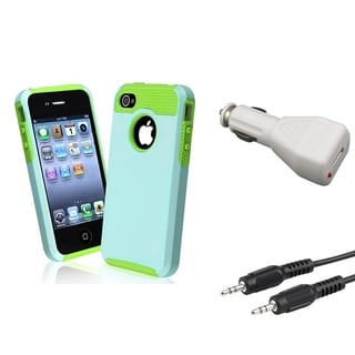 BasAcc Case/ Car Charger Adapter/ Audio Cable for Apple iPhone 4/ 4S