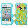 BasAcc Grass Green/ Baby Blue Octopus Case for Apple iPhone 4/ 4S