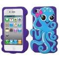 BasAcc Baby Blue/ Blue Violet Octopus Case for Apple iPhone 4/ 4S
