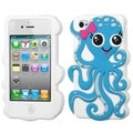 BasAcc Baby Blue/ White Octopus Case for Apple iPhone 4/ 4S