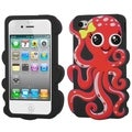 BasAcc Red/ Black Octopus Pastel Skin Case for Apple iPhone 4/ 4S