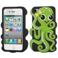 BasAcc Green/ Black Octopus Pastel Skin Case for Apple iPhone 4/ 4S