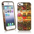 BasAcc 3 Owls Rubber Coated Case for Apple iPhone 5