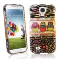 BasAcc 3 Owls Rubber Coated Case for Samsung Galaxy S IV / S4 i9500