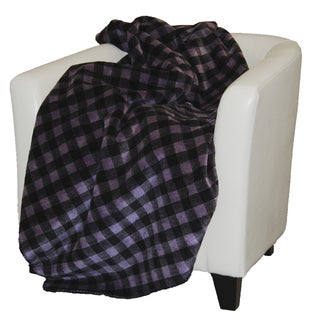 Denali Purple and Black Buffalo Check Throw Blanket