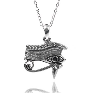 Tressa Collection Sterling Silver Eye of Horus Necklace