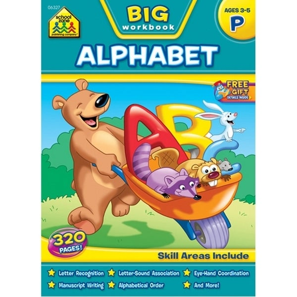 Big Workbook-Preschool Alphabet, Ages 3-5