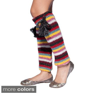 Hand-knit Retro-color Woolen Legwarmer (Nepal)