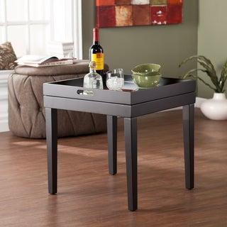 Upton Home Astor Black/ Mirrored Butler Table