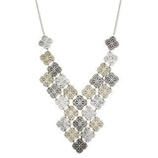 Handcrafted Mixed Metals Filagree Cubes Layers Necklace (India)