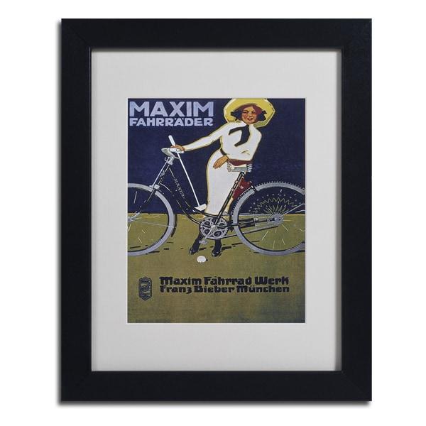 Vintage Apple Collection 'Bike 43' Framed Matted Art