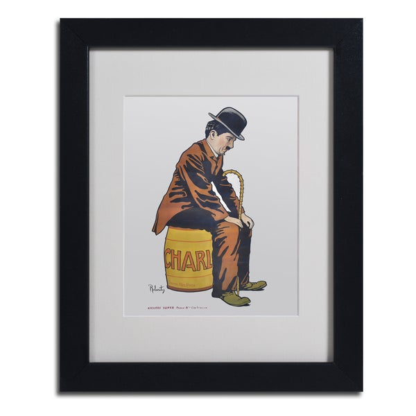 Vintage Apple Collection 'Chaplin' Framed Matted Art