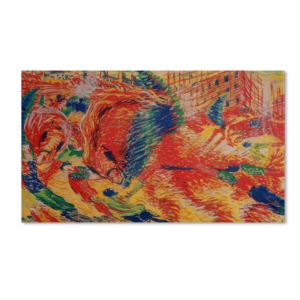 Umberto Boccioni 'The City Rises 1911' Canvas Art