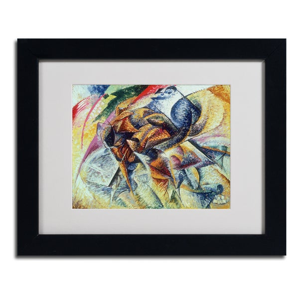 Umberto Boccioni 'Dynamism of a Cyclist' Framed Matted Art