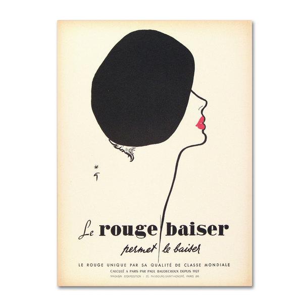 Vintage Apple Collection 'Le Rouge Baiser' Canvas Art