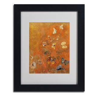 Odilon Redon 'Evocation of Butterflies' Framed Matted Art
