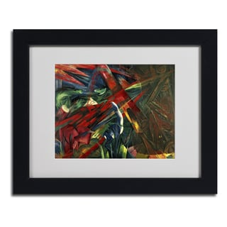 Franz Marc 'Fate of the Animals' Framed Matted Art